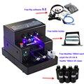 Полностью автоматический УФ-принтер A4, УФ светодиодный планшетный принтер для бутылок с 3500 мл УФ-чернилами для фотографий