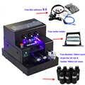 Imprimante UV complètement automatique de bouteille à plat de l'imprimante A4 UV Led avec le jeu d'encre UV de 3500ml pour l'impression en verre en bois de cylindre de coque de téléphone