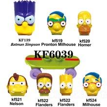 Toys Building-Blocks Action Bart Simpsones Milhouse Family Homer Children for KF6039