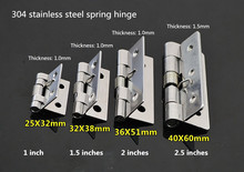 2 Pcs 304 stainless steel spring hinge automatic cabinet door wardrobe hardware and furniture fittings Mini micro hinge