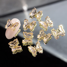 5Pcs Crystal Butterfly 3d Nail Supplies Holographic Aurora AB Nail Art Glitter Sequins DIY Rhinestones Decorations