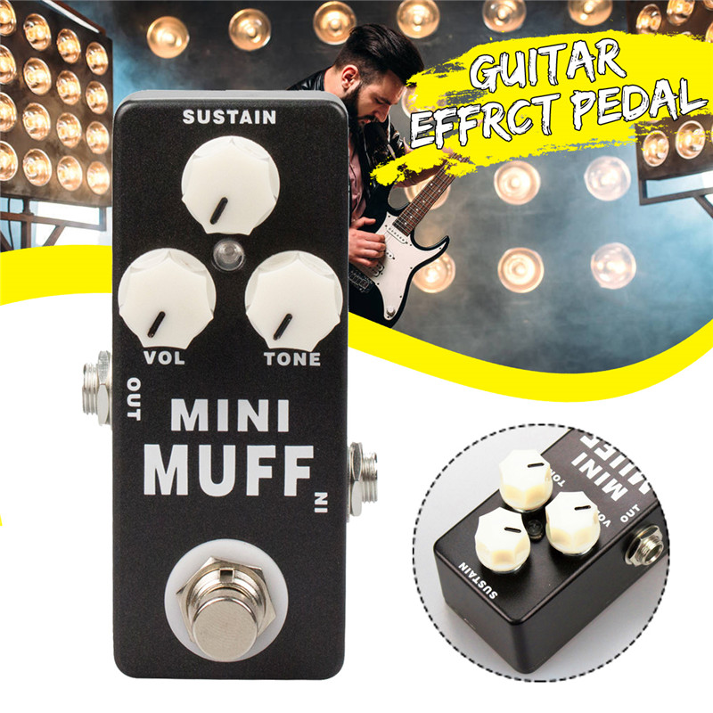 MINI MUFF Distortion Fuzz Guitar Pedal Mini Electric Bass Guitar Effects 100% True Bypass Guitar Parts & Accessories image