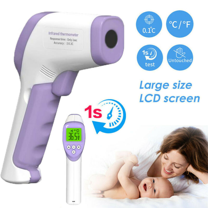 New Non-contact Digital LCD Thermometer Infrared Forehead Non-touch Body Temperature Gun Easy to Hold Dropshipping