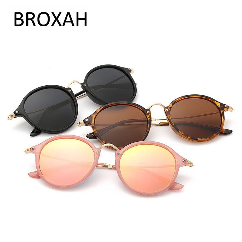 Retro polariserte solbriller Kvinner menn Rundt solbriller Driving Solbriller Merke Briller Dame Nyanser UV400 Lunette De Soleil