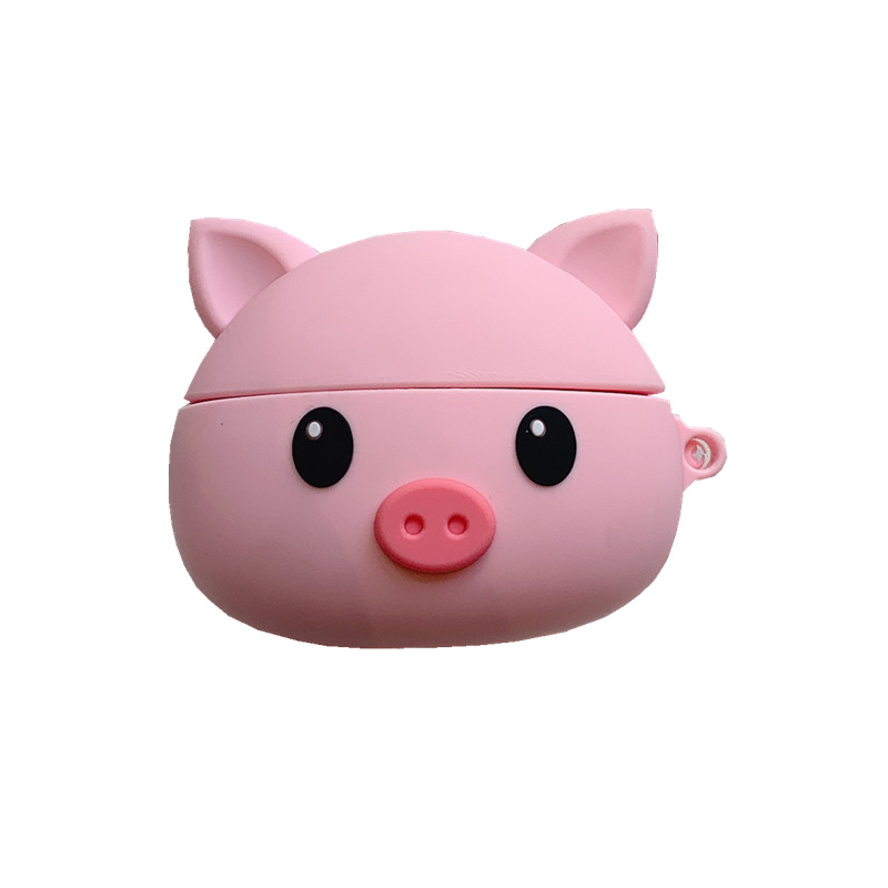 Cute Pink Pig For Airpods Pro Airpods 3 Case Silicone Cute Cartoon