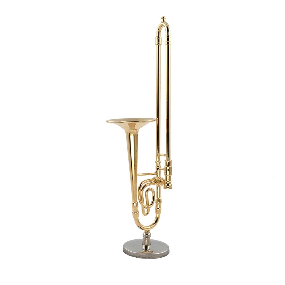 Miniatur Posaune Mini Musikinstrument Zugposaune Dekoration