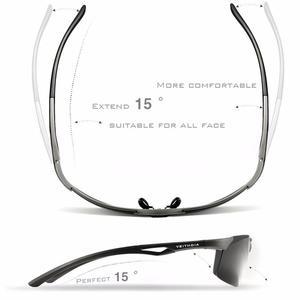 Image 4 - VEITHDIA 선글라스 알루미늄 마그네슘 무테 UV400 남성 선글라스 편광 된 태양 안경 안경 Accessorie 남성 남성 6591