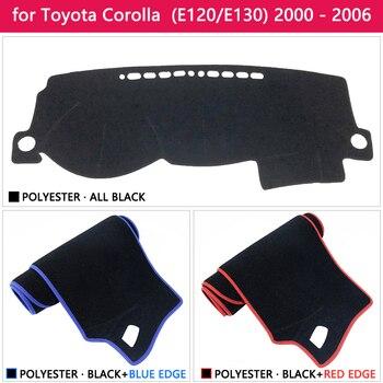 غطاء حماية لوحة القيادة لتويوتا كورولا E120 E130 2000 2001 2002 2003 2004 2005 2006 لوحة داش ظلة السجاد سيارة
