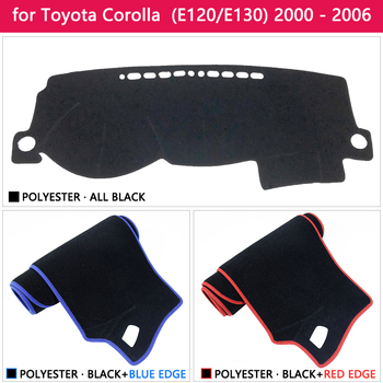 Dashboard Cover Beschermende Pad Voor Toyota Corolla E120 E130 2000 2001 2002 2003 2004 2005 2006 Dash Board Zonnescherm Tapijt auto