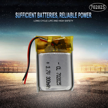 1pc 3.7V 220mAh 702025 Li-polymer Rechargeable Battery for Mp3 Bluetooth headset speaker video recorder wireless mouse image