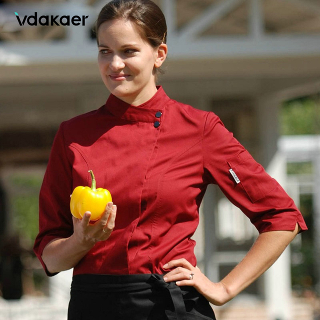 Chef Uniform Unisex Chef Clothes Bakery Restaurant Kitchen Work Wear Long Sleeve Waitress Catering Chef Jackets
