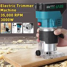 Drillpro 88VF 3000WW 35000RPM Cordless Electric Trimmer Woodworking Engraving Slotting Trimming Milling Machine Wood Router