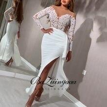 Baziingaaa-vestido de noche elegante para mujer, de lujo, de fiesta, de talla grande, estampado entallado, largo, adecuado para fiestas formales, 2021