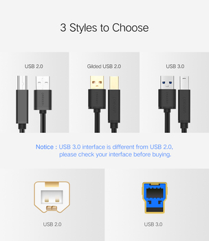 USB Printer Cable USB Type B Male to A Male USB 3.0 2.0 Cable 5