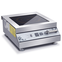 Induction Cooker High Power Stainless Steel Electric Stove Heating Cooktop Soup Cooking Stove Hotel Restaurant