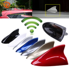 цена на Universal 7 Color Car Shark Fin Antenna Radio Signal Aerial Auto SUV Truck Van Gray/Blue/Gold/Silver/Black/Red/White Car-styling