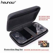 HEYNOW Schutz Tasche für RG350M RG350P RG350 RK2020 Retro Spiel Konsole RS97 Plus Spiel Player, freies Gehärtetem Glas Für RGP