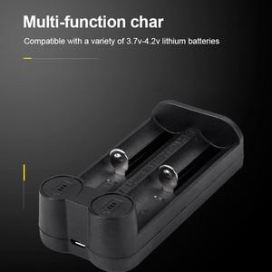 Image 2 - Voxlink 18650 Batterij Oplader Smart Opladen 2 Slot 3.7V 26650 18350 32650 21700 26500 Mh/Ni Cd oplaadbare Batterij Oplader