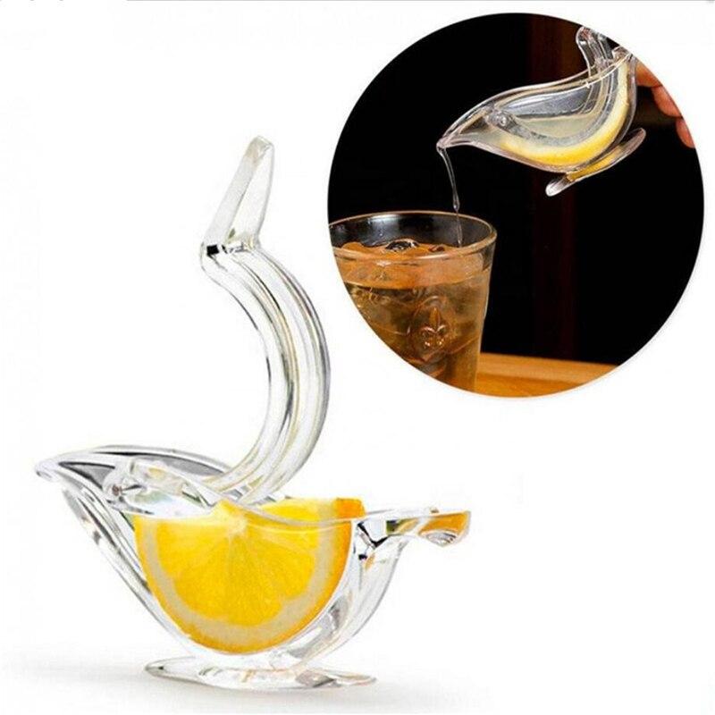 Акриловая соковыжималка для лимона, ручная прозрачная соковыжималка для фруктов, домашняя кухонная соковыжималка для бара, ручная соковыж...
