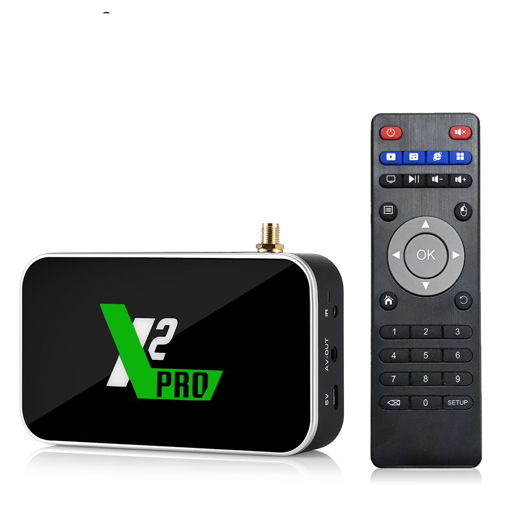 X2 Cube 2.4G/5G WiFi 1000M LAN Smart Android TV Box Amlogic S905X2 4GB DDR4 32GB X2 Pro Android 9.0 Set Top Box 4K Media Player