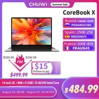 CHUWI CoreBook X 14 pulgadas portátil de 2160*1440 de resolución Intel Core i5-8259U 4 núcleos 8GB RAM 512GB SSD Windows 10 teclado retroiluminado