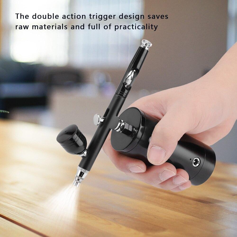 Electric Mini Spray Gun Full Airbrush Set 4 Nozzle Handheld Airbrush gun Household Paint Gun for Craft Models Easy Spraying