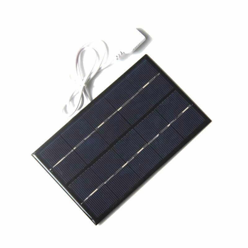 USB لوحة طاقة شمسية 2 واط 5 فولت الخلايا الشمسية شاحن جزء سريع لتقوم بها بنفسك في الهواء الطلق شاحن بطارية بوليسيليكون المحمولة السفر اللوحي مولد