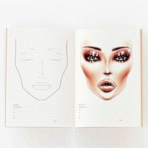 Image 1 - A4 Facechart נייר איפור נייד מקצועי איפור אמן עיסוק תבנית איפור ציור ספר