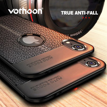 Vothoon PU Leather Silicon Case For iphone Xs Max Xr 6s 7 8 Plus 5se Soft Silicon Shockproof Case Cover For iphone Xs Max Case(China)