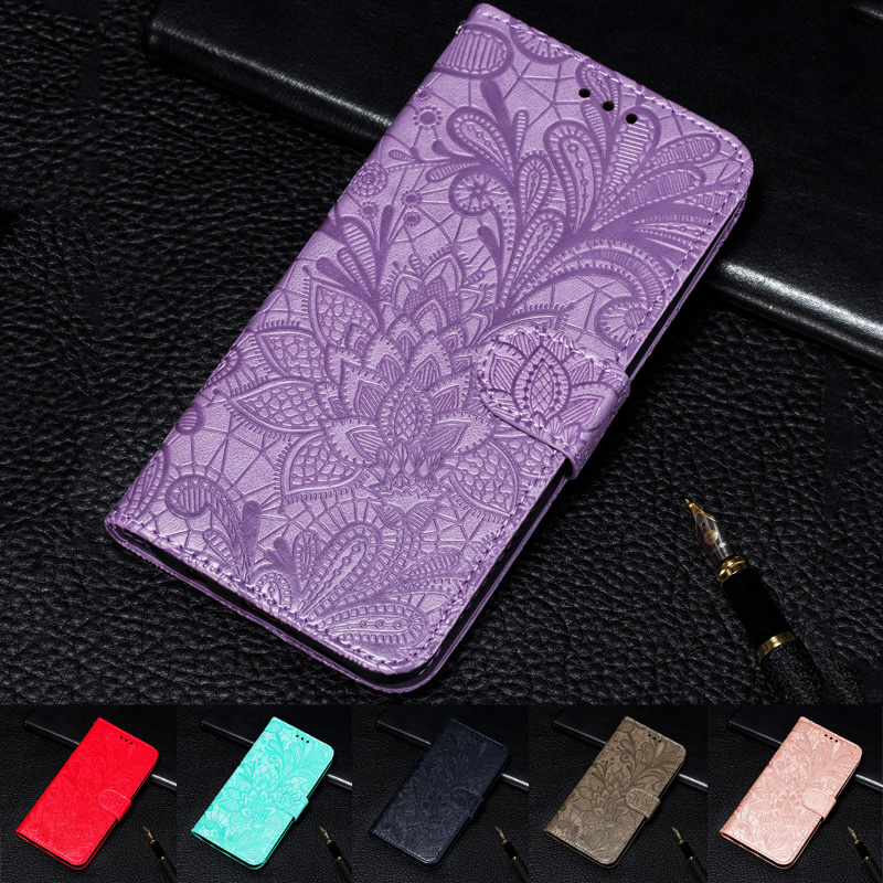 Lace Flower Luxury Wallet Case For Xiaomi 8 10 Lite 9 SE 6X A2 A3 9T CC9 Phone Cover Redmi Note 6 7 8 9 Pro 8T 8A K30 9S Fundas(China)