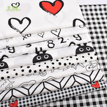 Chainho,Printed Twill Cotton Fabric,Black&White World,Patchwork Cloth For DIY Sewing Quilting Baby&Child's Bed Clothes Material