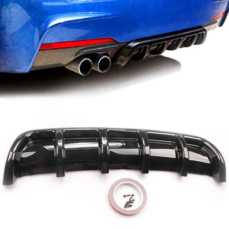 Universal Carbon Fiber Bumper Lip Rear Bounding Automotive Spoiler Shark Fin Rear Bumper Guide Plate Six Tooth Spoiler Bumpers