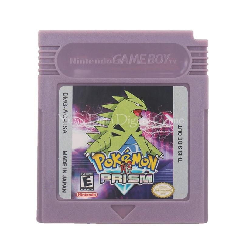 For Nintendo GBC Video Game Cartridge Console Card Poke Series Prism English Language Version
