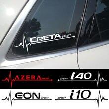 Автомобильные наклейки 2 шт., крутые наклейки на боковое окно для Hyundai Creta I10 I40 Azera Eon Kauai
