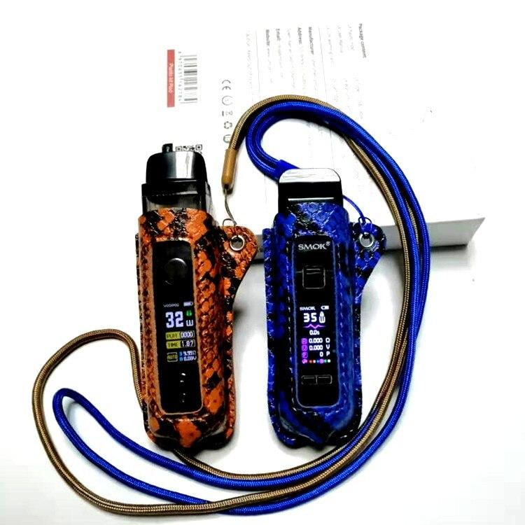 1Pcs Leather Case For VOOPOO Vinci Pod Mod Vape Kit Texture Skin Silicone Sleeve Protective Cover Fit VOOPOO Vinci