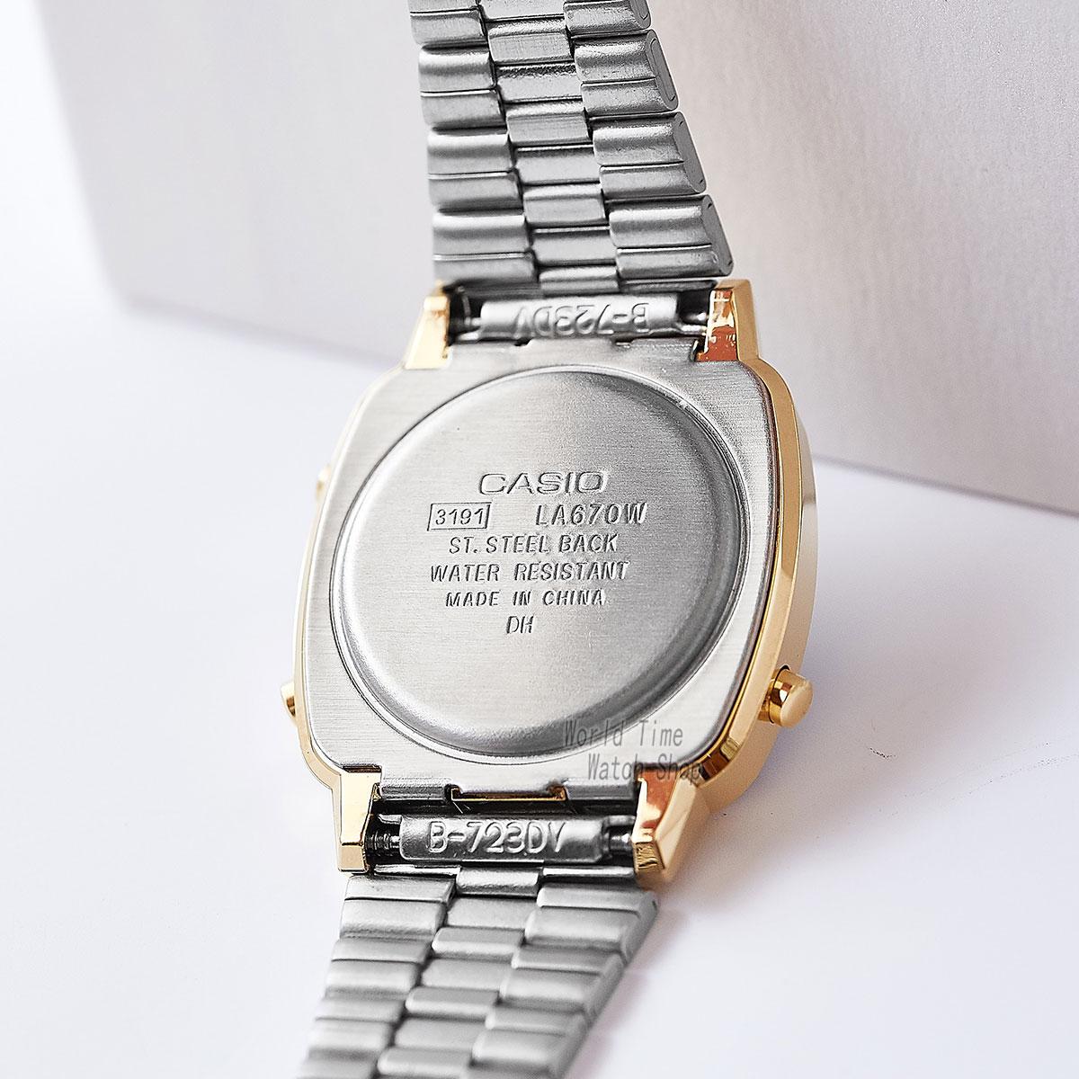 Reloj Casio de oro para mujer Relojes de primeras marcas de lujo Reloj de cuarzo impermeable para mujer Reloj digital LED para mujer Reloj deportivo relogio feminino montre homme bayan kol saati zegarek damski LA680W - 4