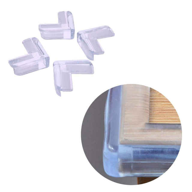 New Portable 4PCS Clear Child Baby Safety PVC Protector Table Corner Edge Protection Cover Children Anticollision Edge & Guards 2