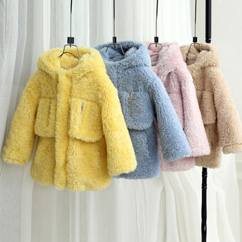 2019 Fashion Children Winter Jacket Coat big pocket Kids Warm Thick Fur Collar Hooded long down Coats For Teenage 6 8 10 12 Y