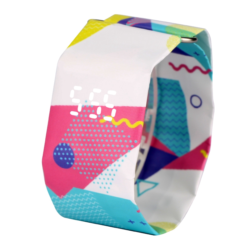 2020 Trendy DIGITAL LED Watch Paper Water/Tear Resistant Watch Perfect Gift 10 Variants 9