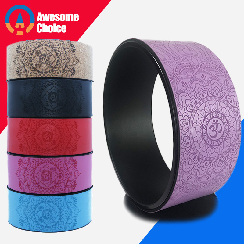 Zen Mark TPE Yoga Circles Professional Pilates Wheel Waist Shape Bodybuilding ABS Gym Workout Yoga Wheel Back Training Tool