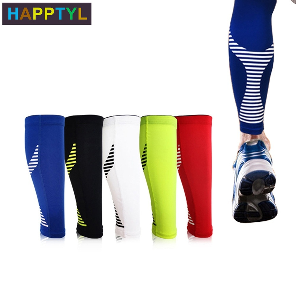 HAPPTYL 1Pcs Calf Compression Sleeve For Men, Women And Runners - Helps Shin Splint & Calf Pain Relief, Leg Compression Sleeves