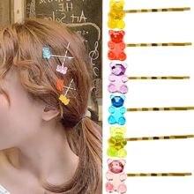 Заколки для волос с цветным медведем женщин и девочек рождественский