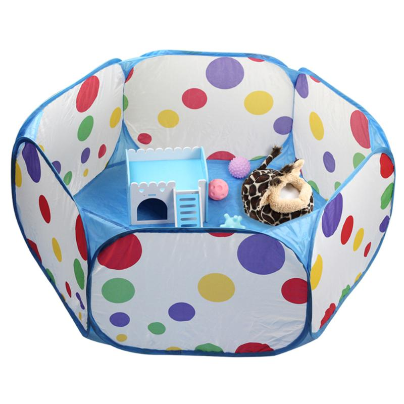 Dwarf Hamster Mouse with Ladder FLAMEER Hamster House Hideout Hideaway Exercise Toys for Rat blue