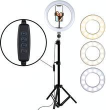 LED Füllen Ring Licht 160CM Stativ Telefon Halter Selfie Make-Up Live-Streaming YouTube Dimmbare Ringlight Fotografie Lampe