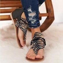 Sandalias de mujer, nuevos zapatos de verano con estampado de leopardo, Sandalias planas para mujer de talla grande, sandalias de verano para mujer, zapatos de moda para mujer, moda, Block