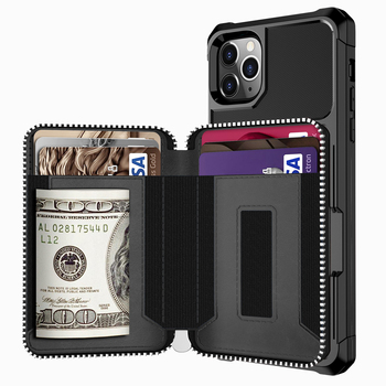Luxury PU Leather Zipper Wallet Case for iPhone 11 Pro XS Max XR Cases Wallet Flip Cover Buckle for Phone 6 6s 7 8 Plus Fundas