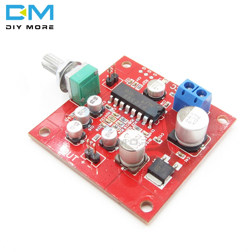 PT2399 Microphone Reverb Plate Reverberation Board No Preamplifier DC 6-15V No Preamplifier Removable R27 Resistor Module DIYKIt