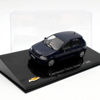 IXO 1:43 Chevrolet Celta Super 1.4 2006 Dark blue Diecast Models Collection Toys Car image