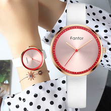 Fantor 2019 Luxury Brand Women Watches Leather Fashion Quartz Wristwatch Simple Bracelet Watch for Elegant Ladies
