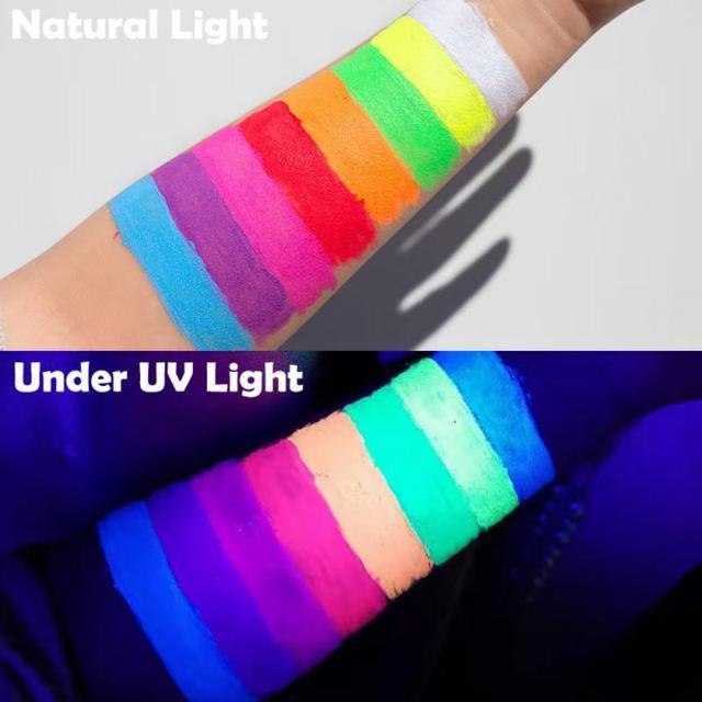 8 Colors Neon Eyeliner Pen Water Liquid Eyeliner Pencil UV Light Pastels Pastel-Black Light Glow Eye Makeup Cosmetics TSLM1 2